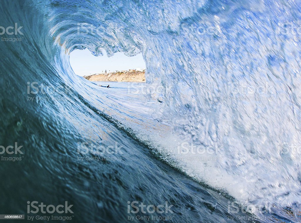 surfer's view stock photo