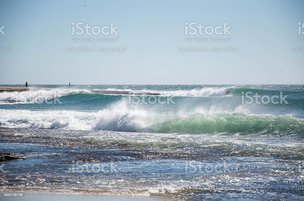 Surfing Action stock photo