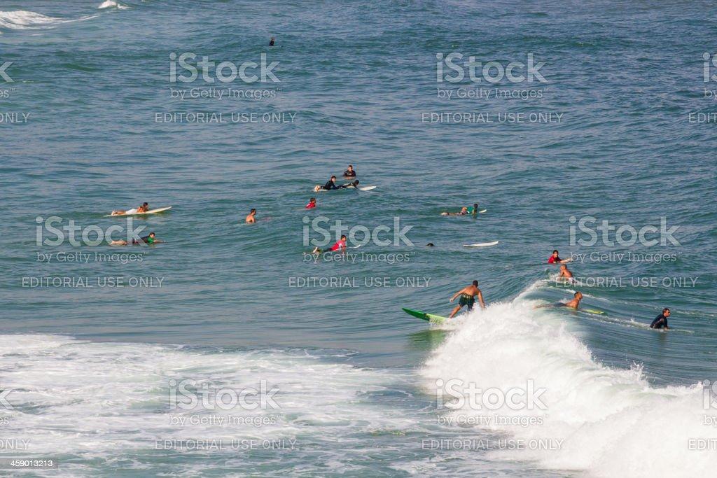 Surfing at Rio de Janeiro stock photo