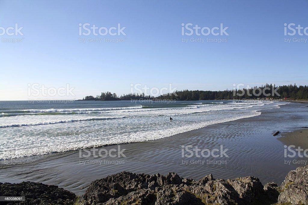 Surfing beach stock photo