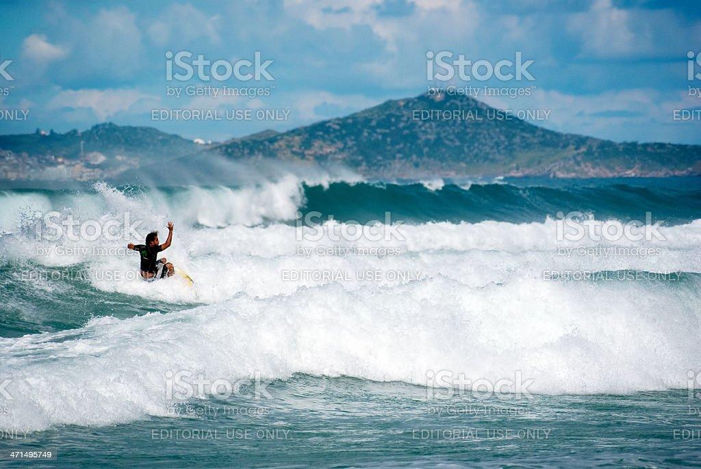 surfing brazil stock photo