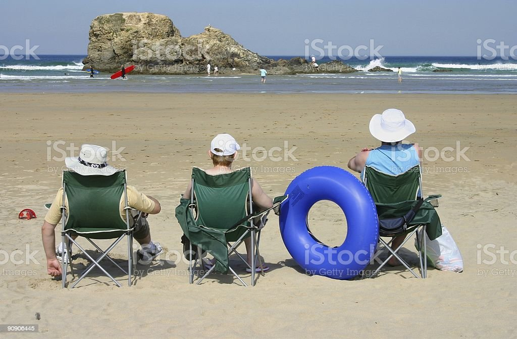 Surfing can be a spectator sport royalty-free stock photo