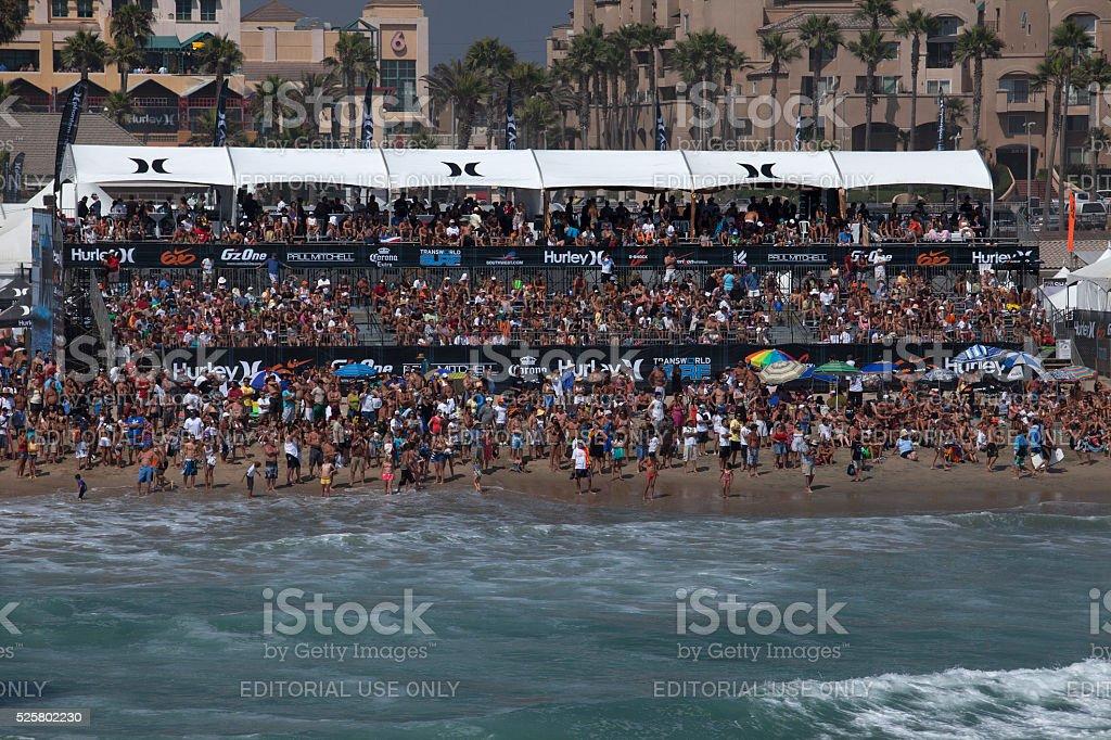 Surfing Celebration stock photo