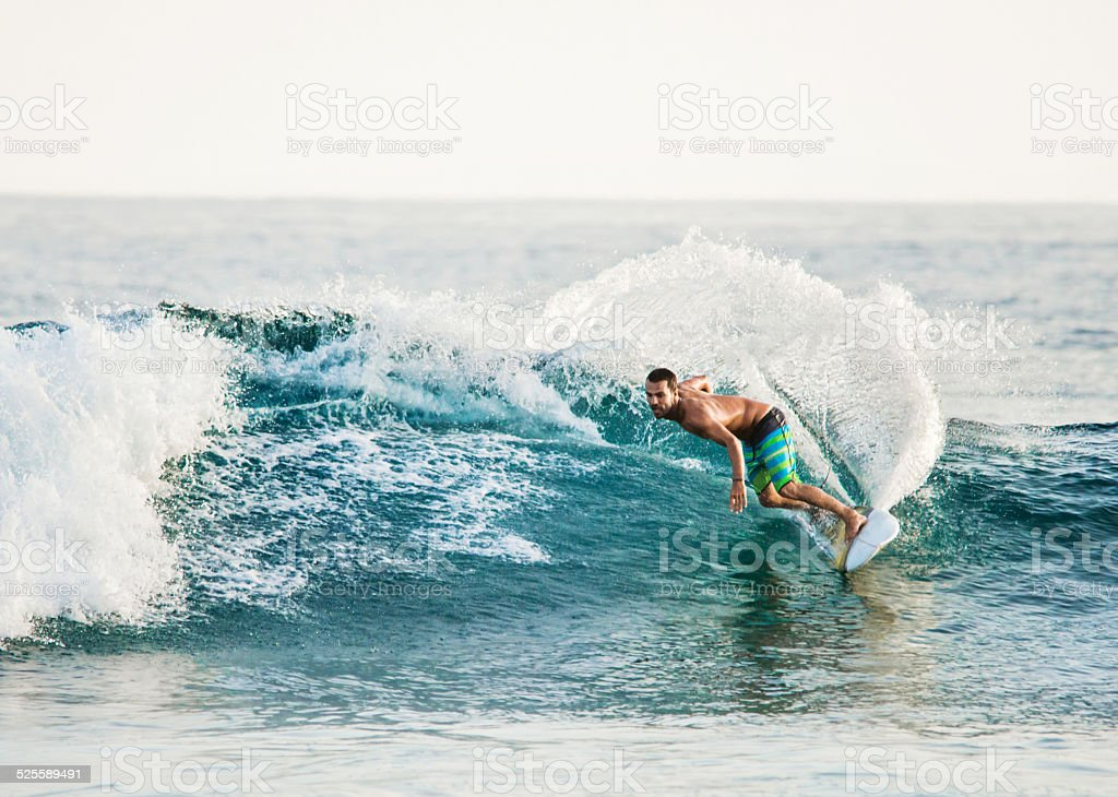 Surfing in summer. stock photo