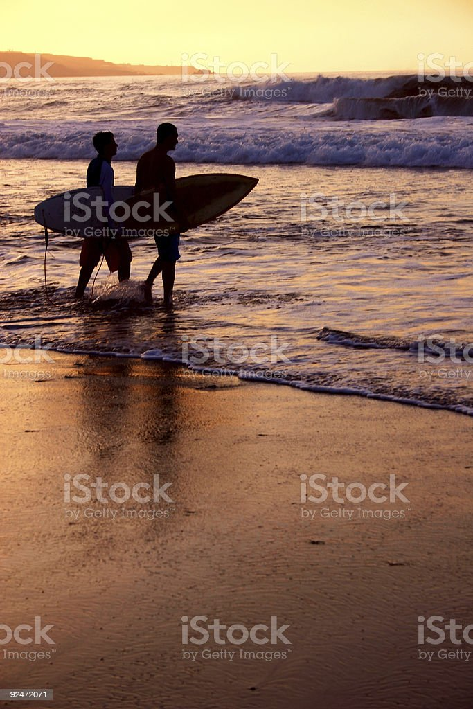 Surfing Late royalty-free stock photo