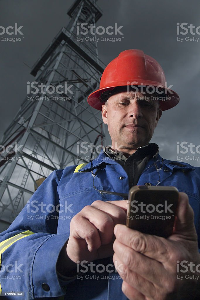 Surfing Oil Worker royalty-free stock photo