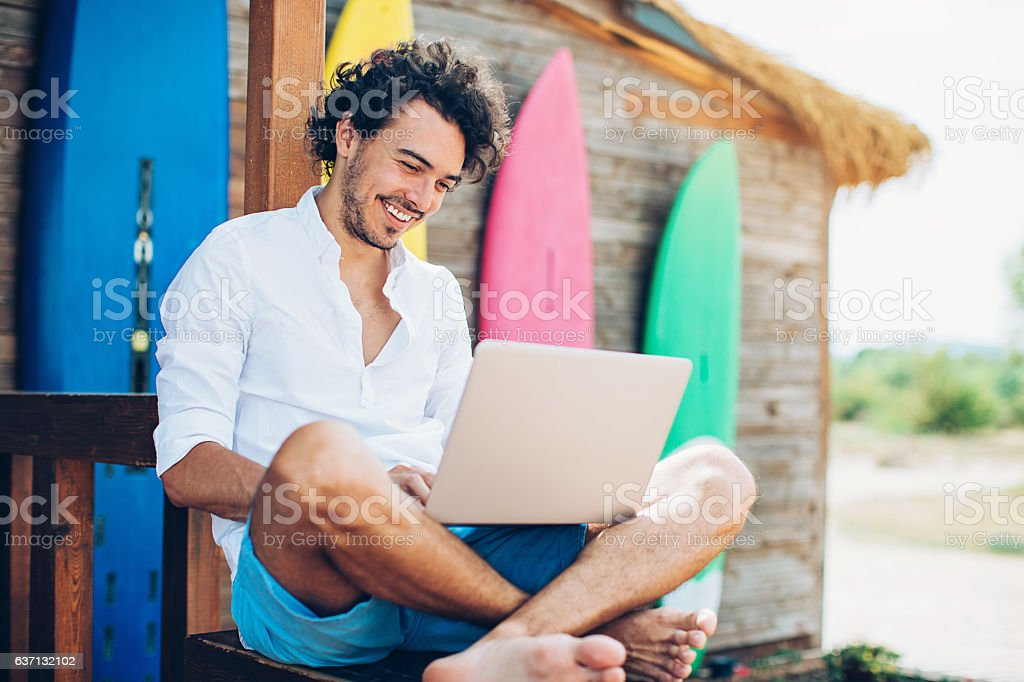 Surfing stock photo