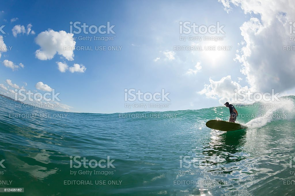 Surfing Summer Water Action stock photo