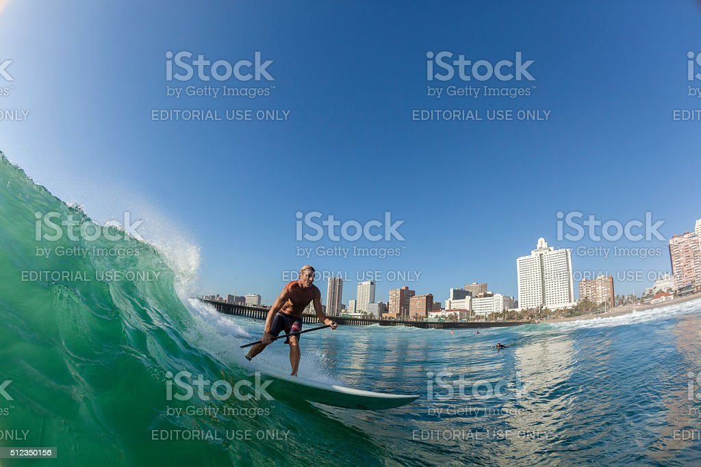 Surfing Surfer SUP Water Action stock photo