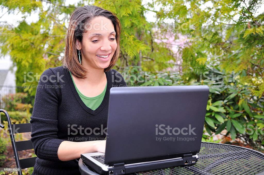 Surfing The Web royalty-free stock photo
