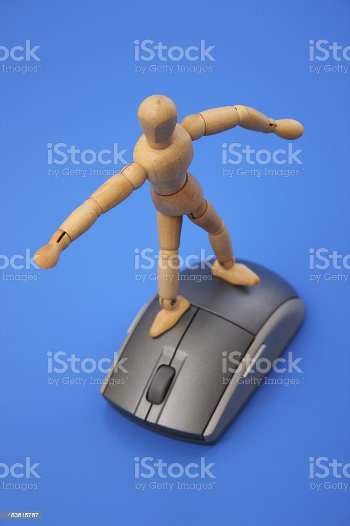 Surfing the www royalty-free stock photo