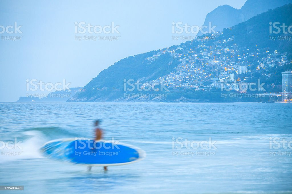 Surfing time. stock photo