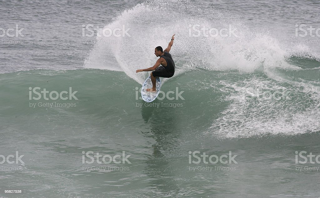 surfing wave stock photo