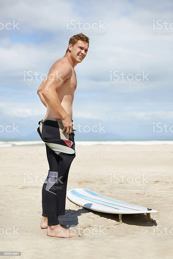 Surf's up! stock photo
