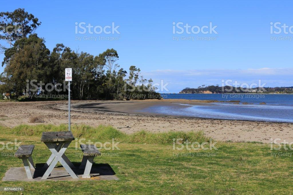Surfside Beach in Batemans Bay Australia. stock photo