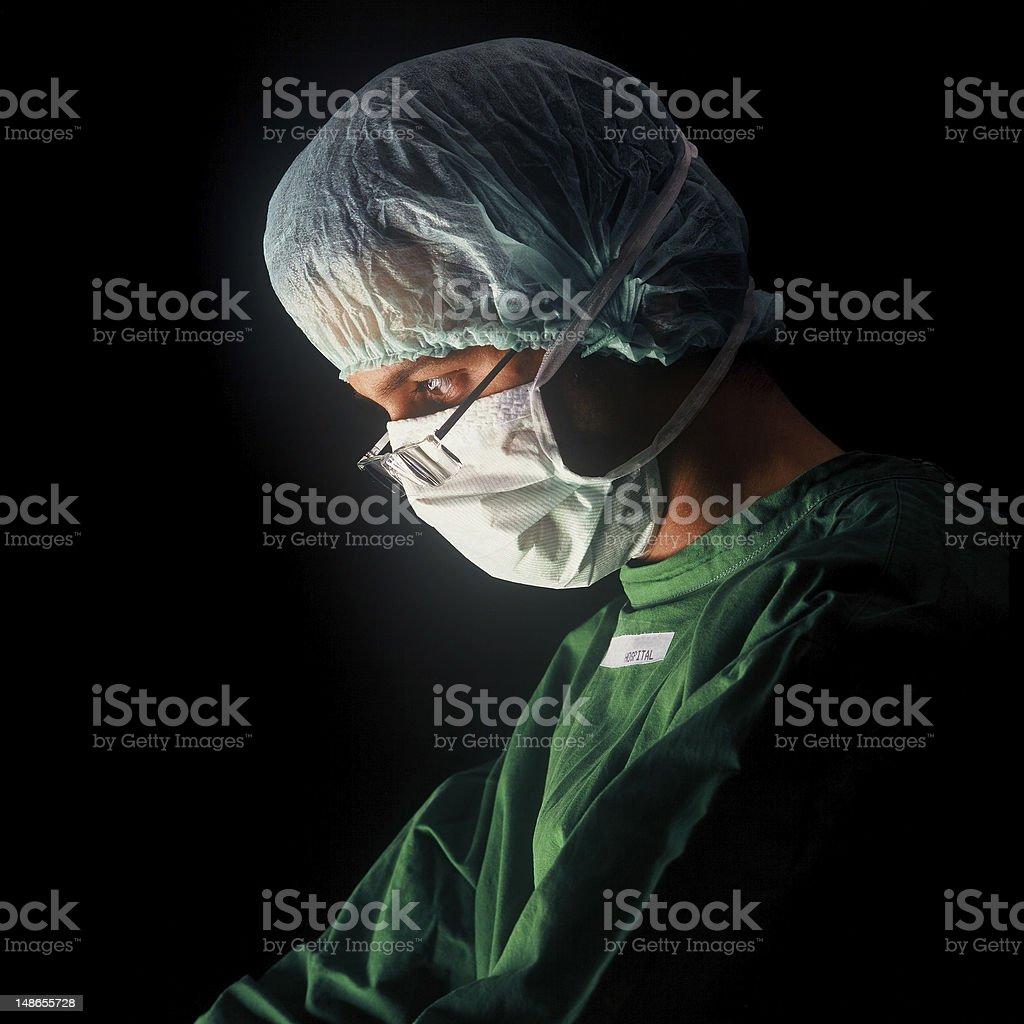 Surgeon at work stock photo