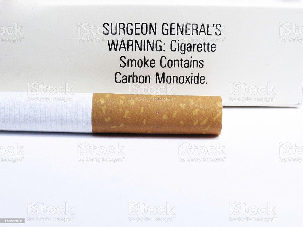 Surgeon General's Warning royalty-free stock photo