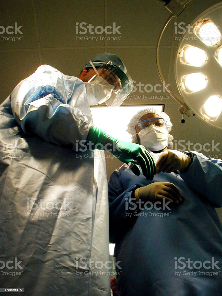 Surgeon in OR2 royalty-free stock photo