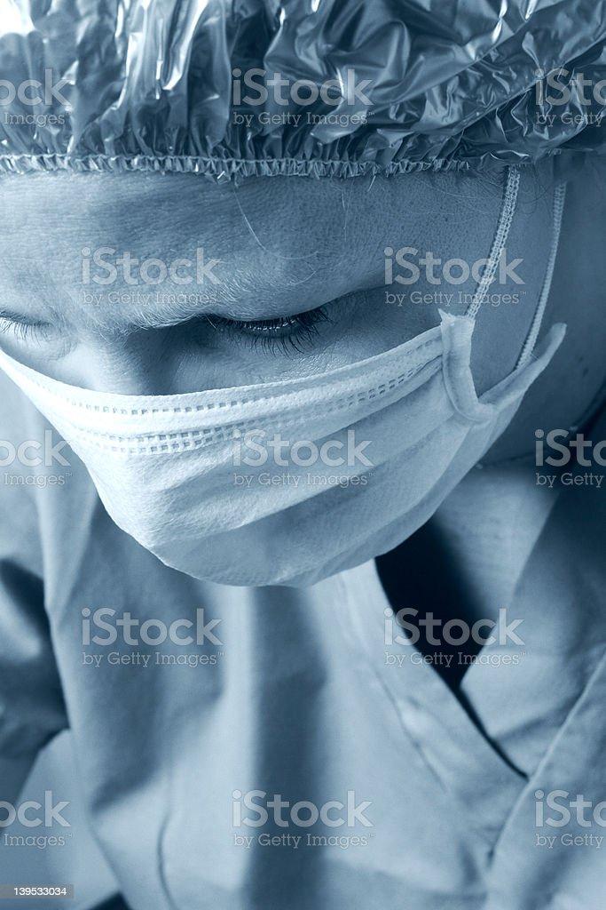 Surgeon in scrubs royalty-free stock photo