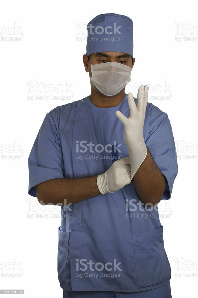 Surgeon preparing 3 royalty-free stock photo