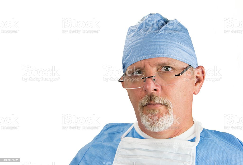 Surgeon with Glasses stock photo