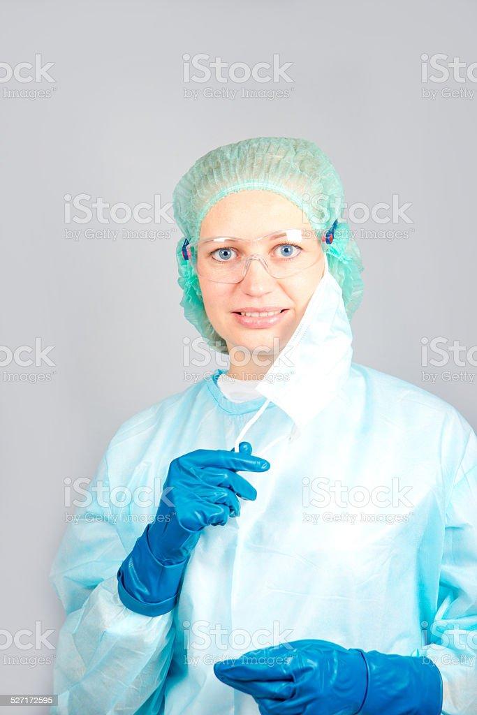 surgeon woman stock photo