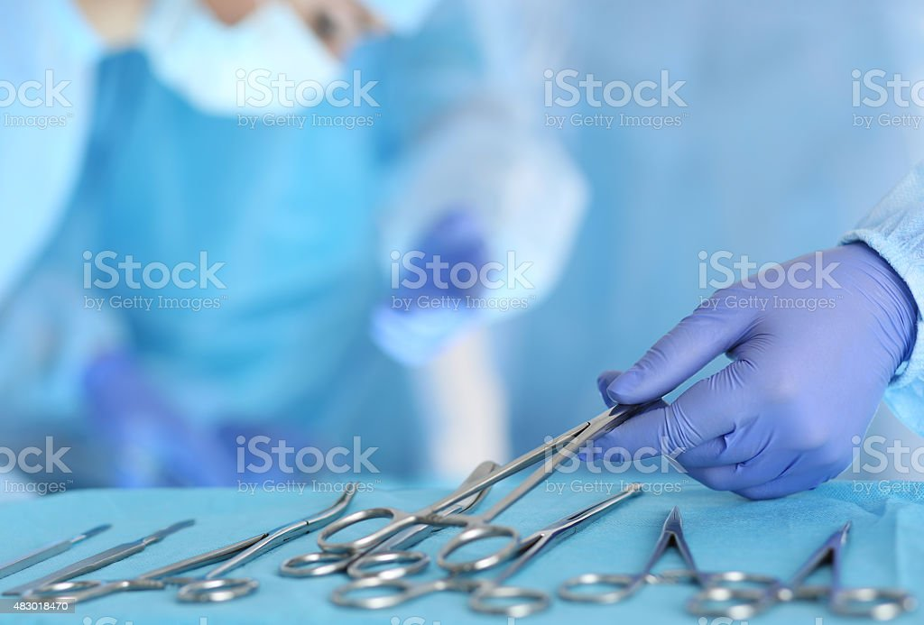 Surgery and emergency concept stock photo