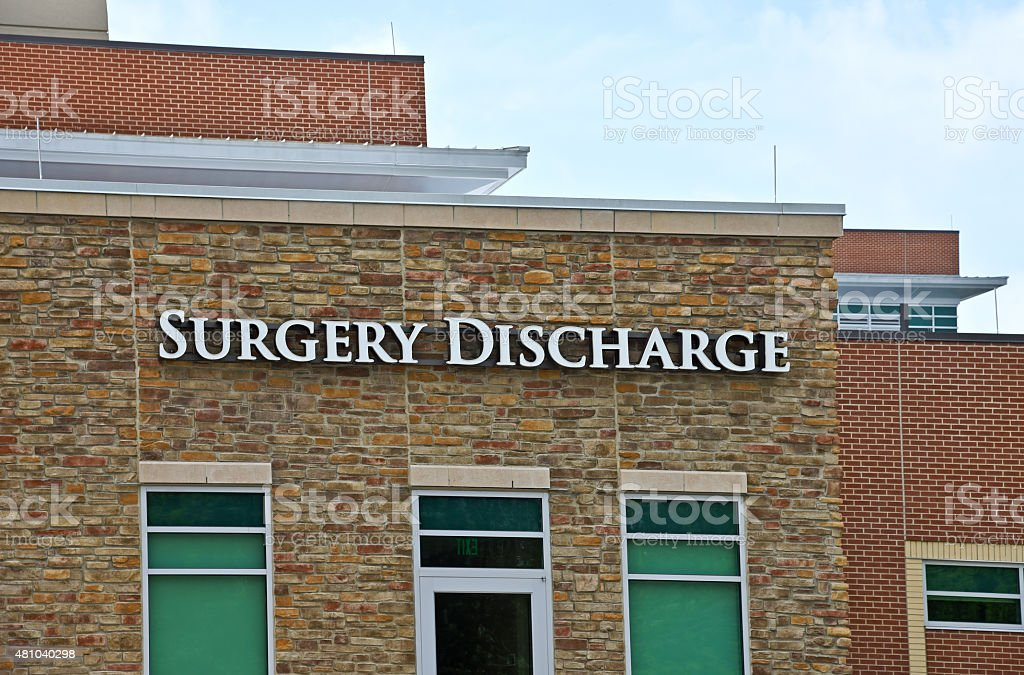 Surgery Center Discharge stock photo