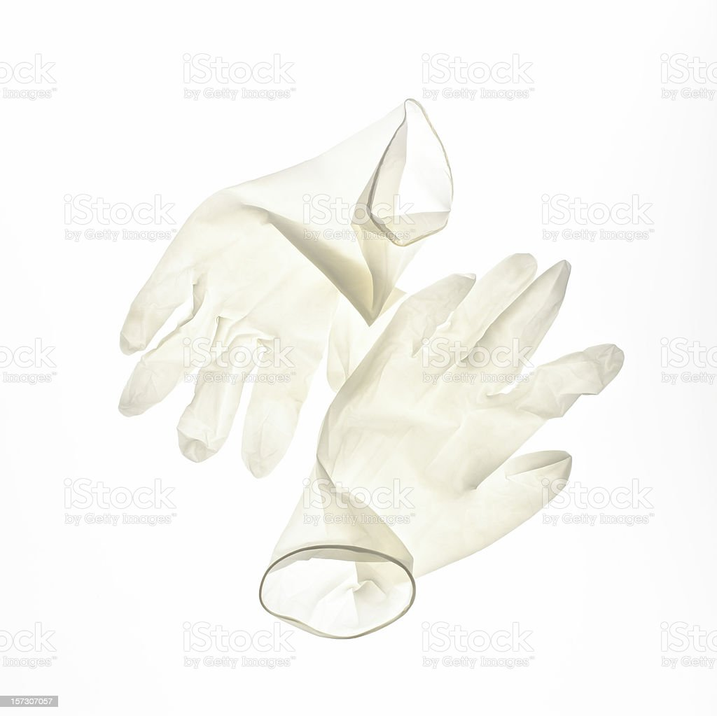 Surgery gloves stock photo
