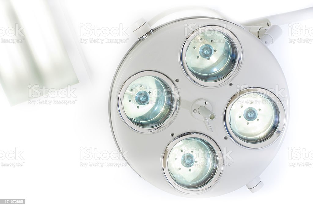 Surgery Lamp at ceiling. royalty-free stock photo