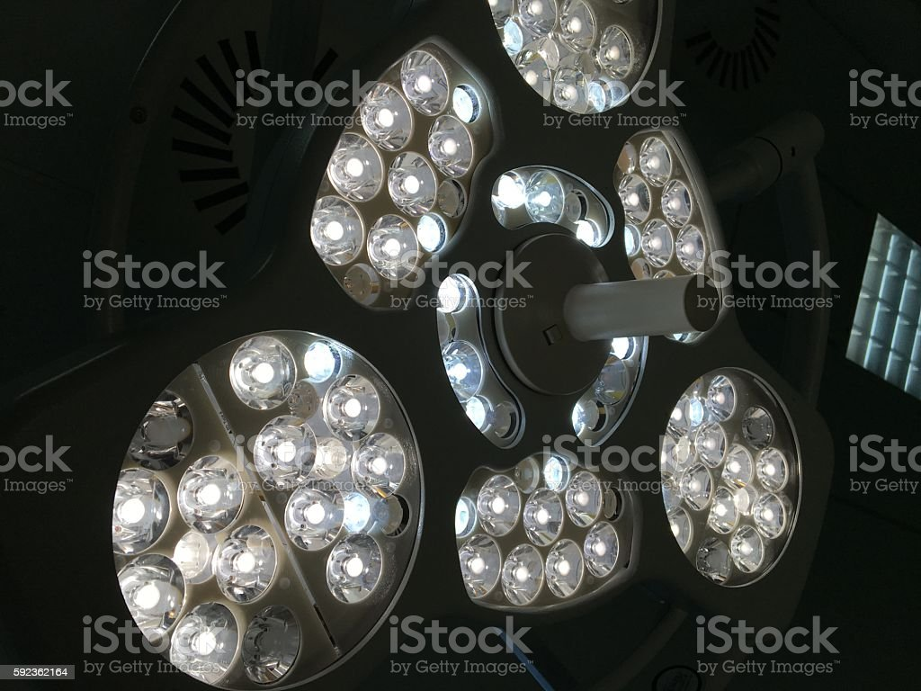 surgery light stock photo