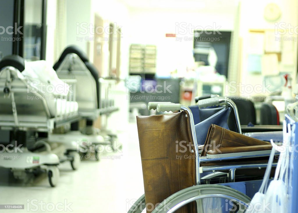 Surgery Room with Wheel Chairs royalty-free stock photo