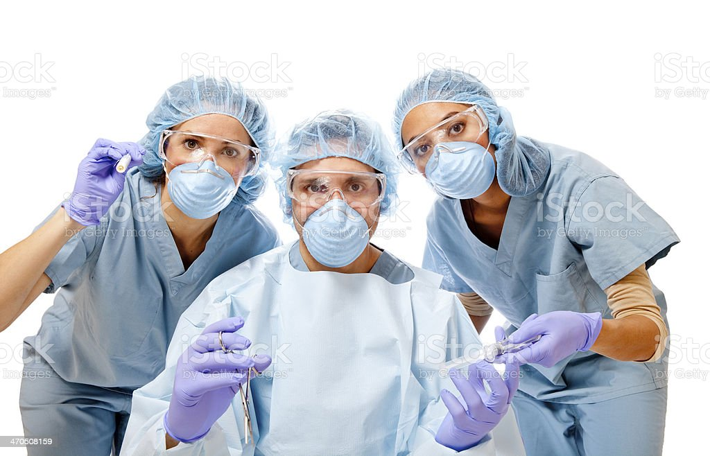 Surgery Team royalty-free stock photo