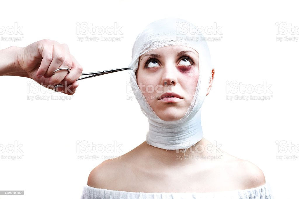Surgery victim royalty-free stock photo