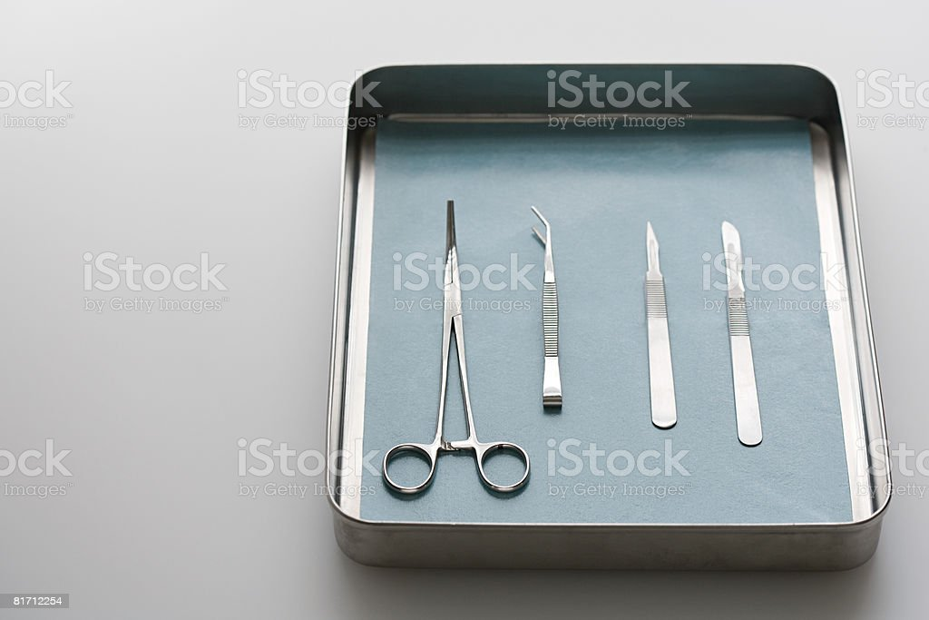 Surgical equipment stock photo