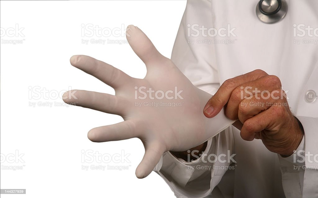 Surgical glove royalty-free stock photo