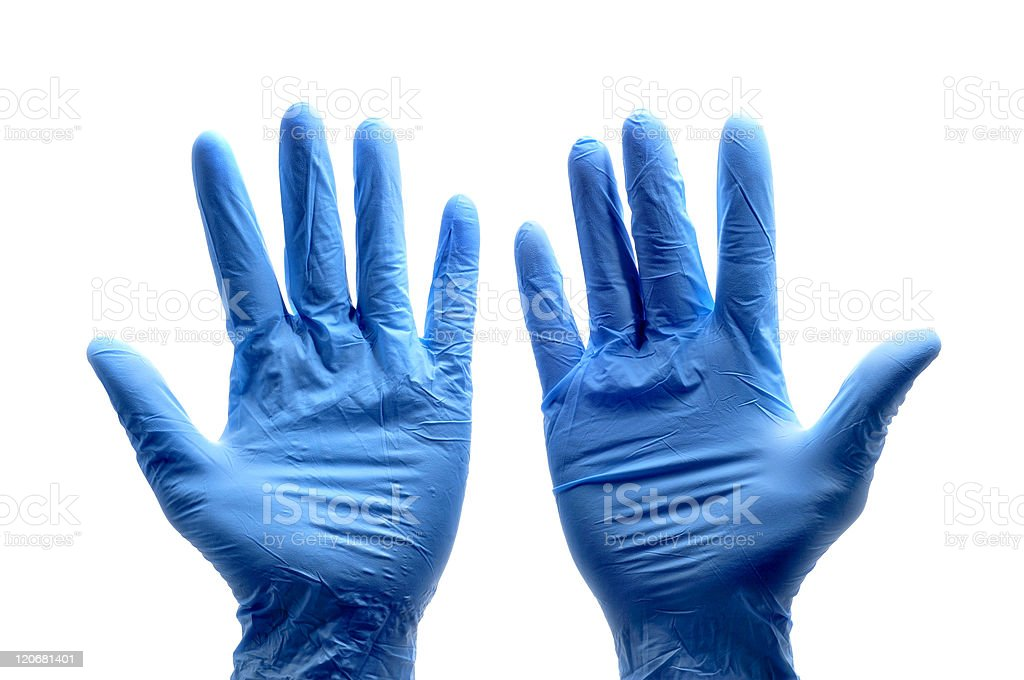 surgical gloves stock photo