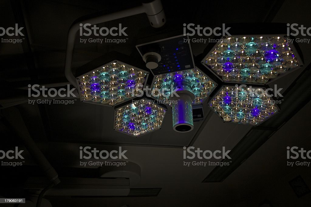 surgical lamp stock photo