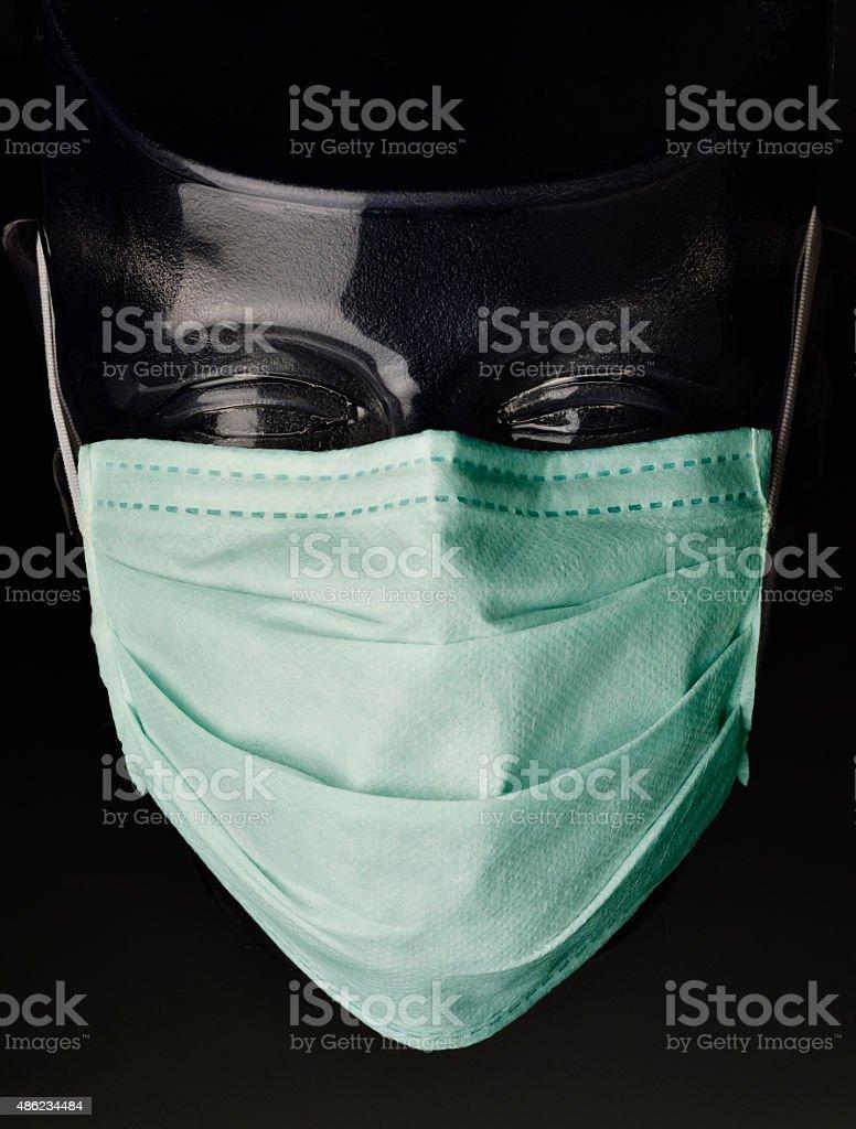 Surgical Mask on Transparent Dummy stock photo