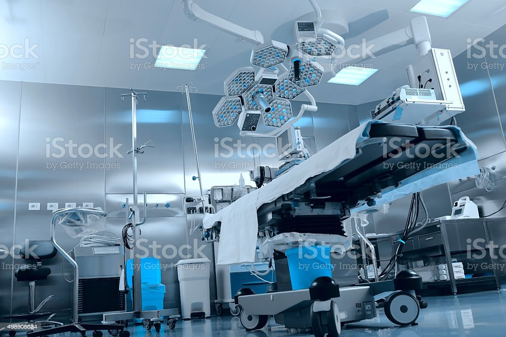 Surgical operating room stock photo