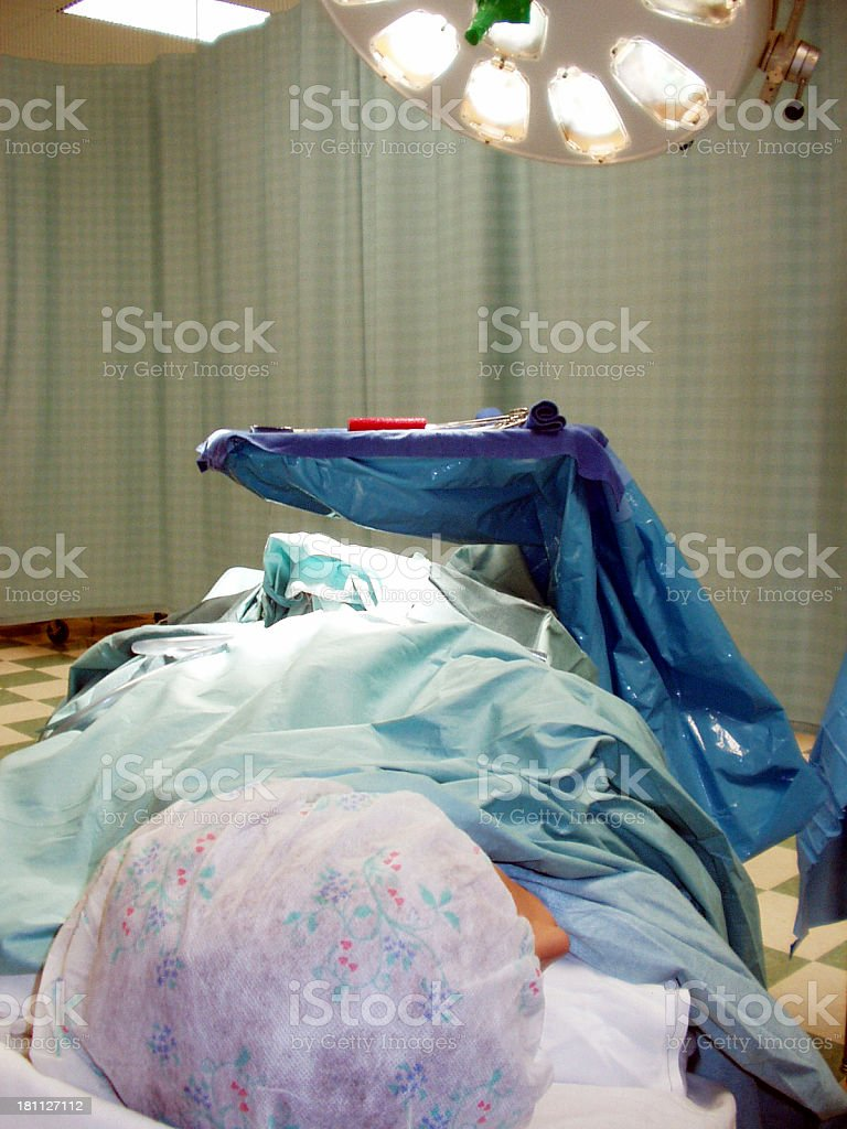 Surgical Patient royalty-free stock photo