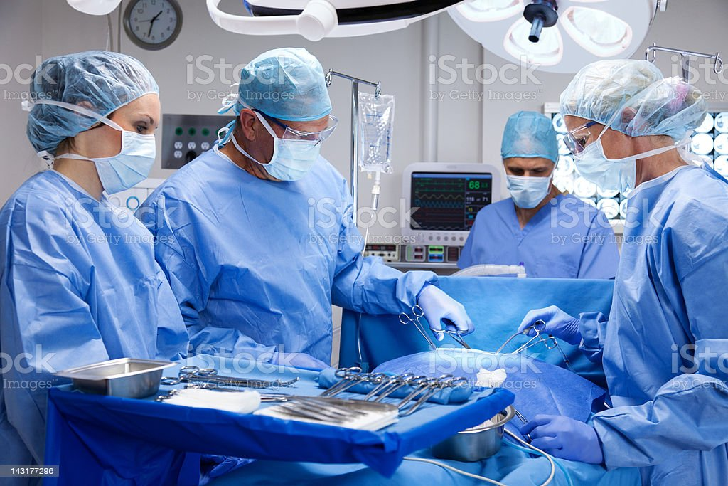 Surgical Team stock photo