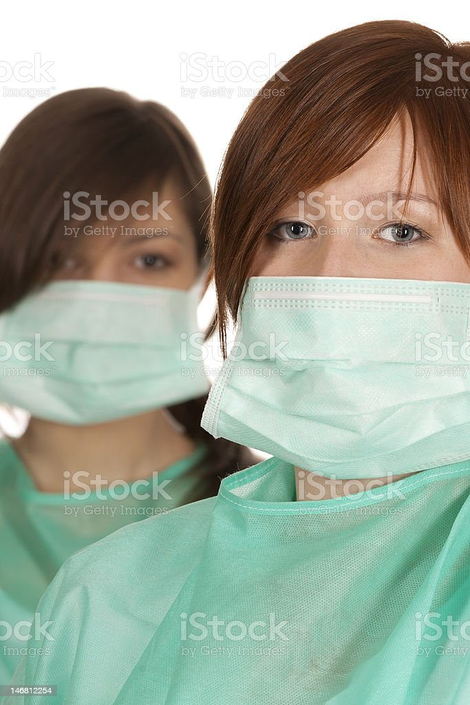 Surgical Team royalty-free stock photo