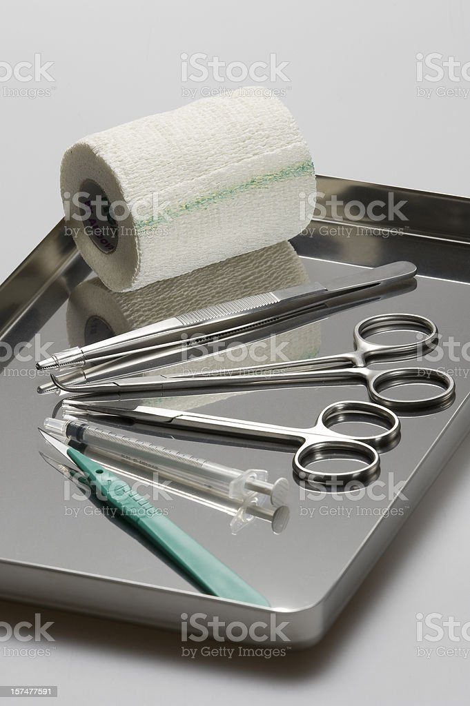 Surgical tray stock photo