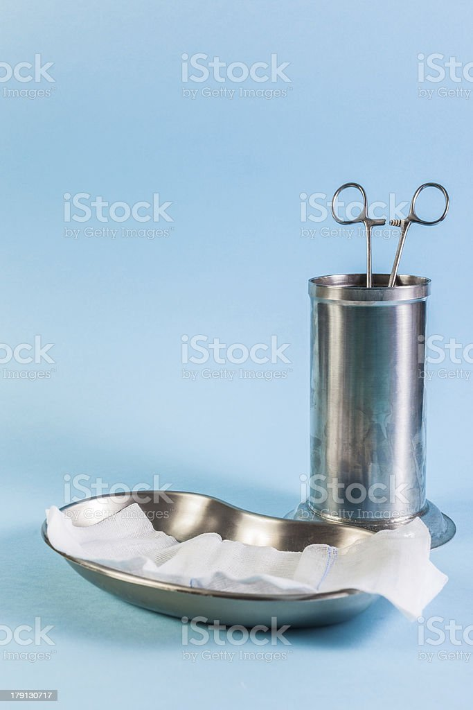 Surgical trays stock photo