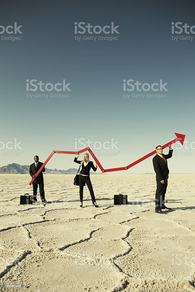 Surging Business stock photo