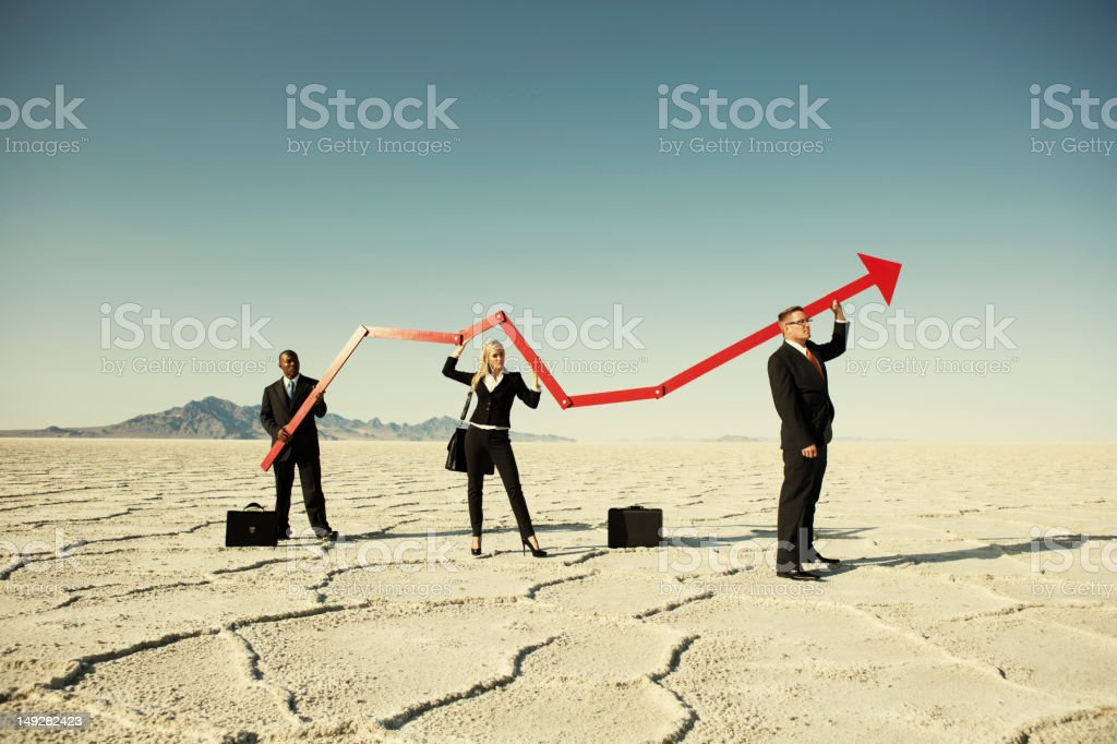 Surging Business royalty-free stock photo