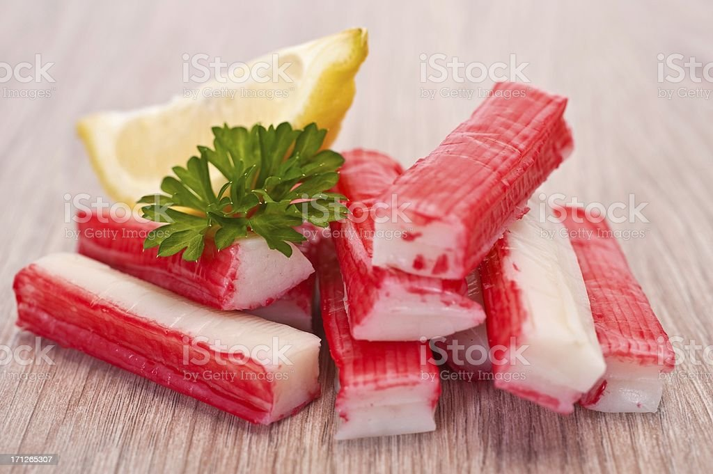Surimi Crab Sticks stock photo