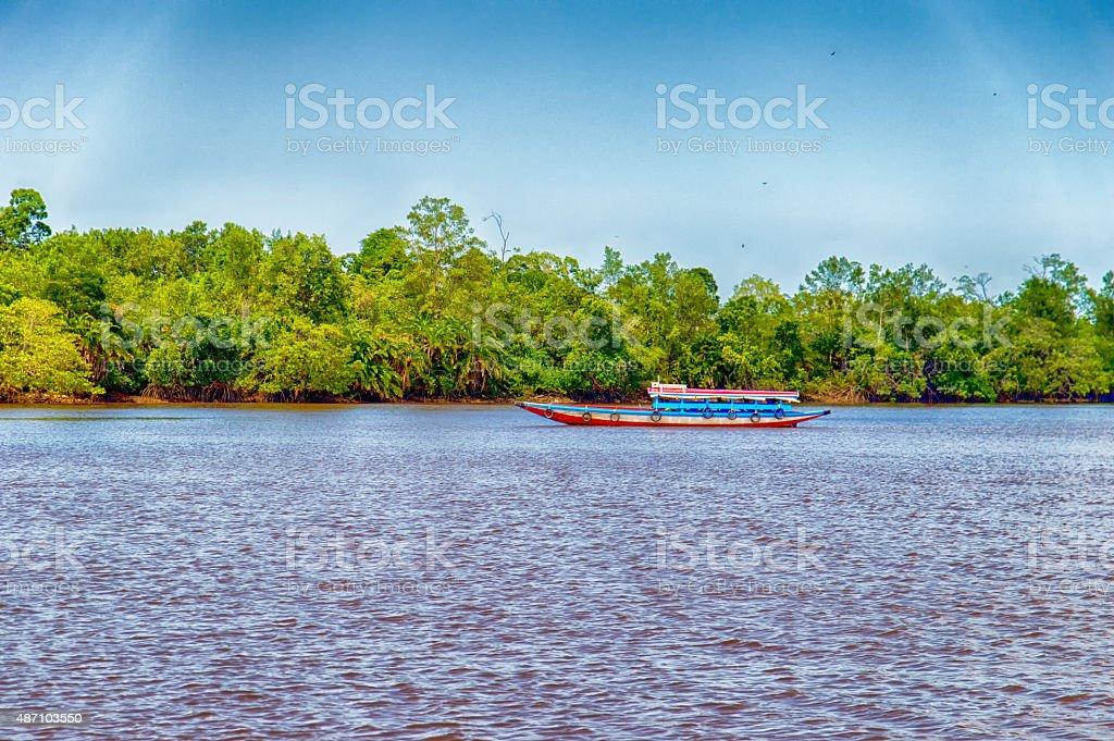 Suriname Boat stock photo