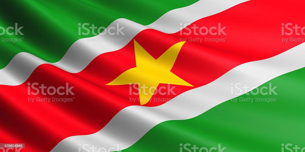 Suriname flag. stock photo